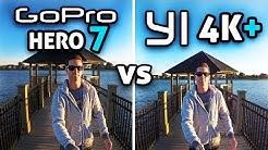 GoPro HERO 7 Black vs YI 4K+