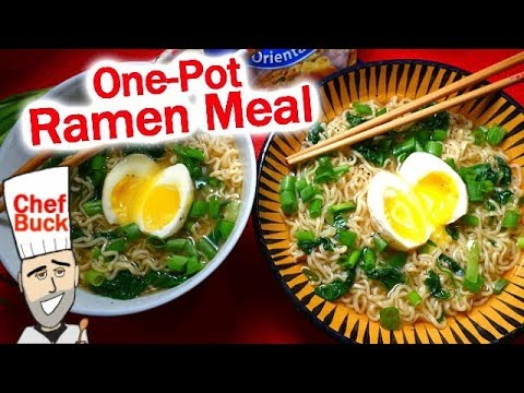 How to make super good ramen noodle soup with egg drop