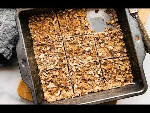 Easy 3 Step Paleo Baklava Bars {Vegan Option}