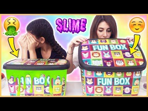 Kutudan Ne Çıkacak Slime Challenge Çöplük Slaym Eğlenceli Çocuk Videosu Dila Kent