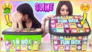 Kutudan Ne Çıkacak Slime Challenge Çöplük Slaym Eğlenceli Çocuk su Dila Kent