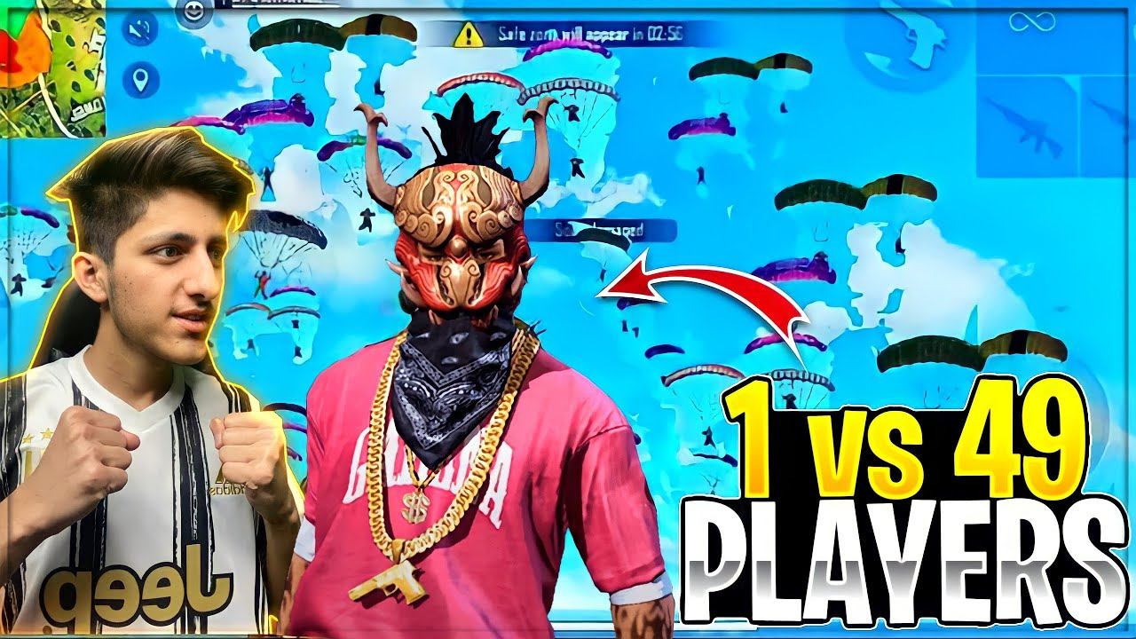 Factory Challenge 49 Player On Factory Roof 1 vs 49 Players Free Fire Gameplay- Garena Free Fire