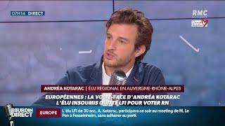 Elu de la France Insoumise, il appelle à voter pour le RN: Andréa Kotarac s'explique sur RMC