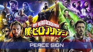 Cover images Avengers Hero Academia | Kenshi Yonezu - Peace Sign (BNHA Anime Opening)
