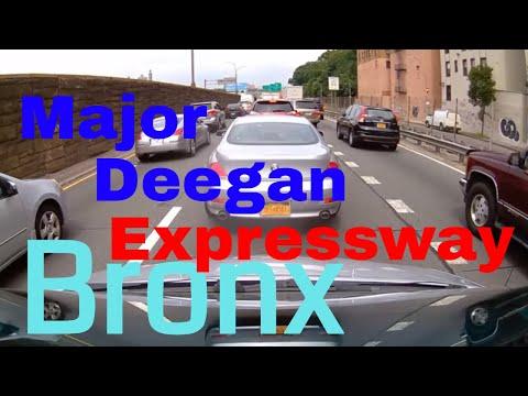 Driving Downtown - Major Deegan Expy -Bronx - New York  - USA
