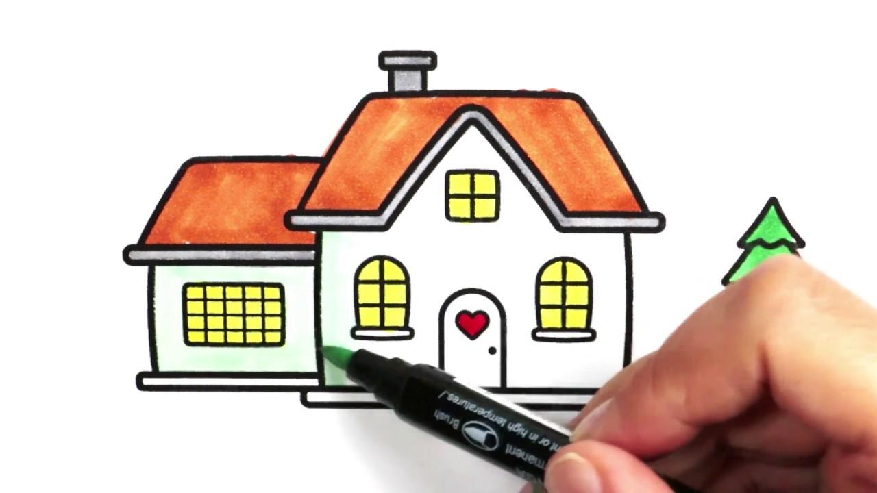 Ev Boyama Renkleri öğreniyorum Boyama Sayfaları Sihirli Kalemler