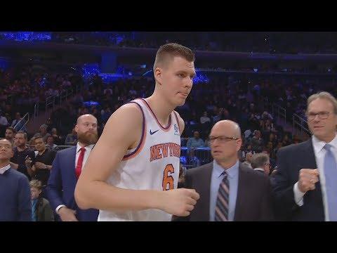 Kristaps Porzingis Returns 34 Pts! LeGM Disses Knicks/Phil Jackson! 2017-18 Season