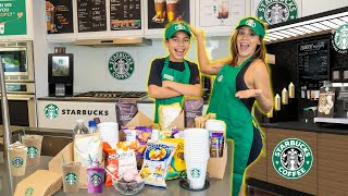 We OPENED Our Own STARBUCKS At Home! **Dream Come True!** | The Royalty Family