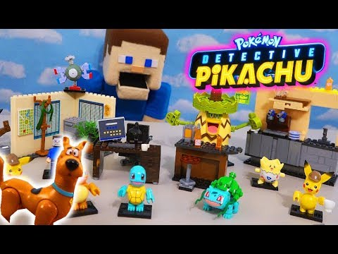 Pokemon Detective Pikachu Movie MEGA CONSTRUX Construction Set Vs SCOOBY DOO! Unboxing