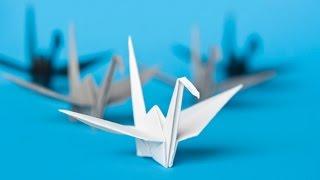 ❤ ORIGAMI - Come piegare una gru di carta