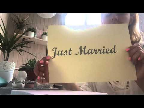 Видео Табличка на велосипед JUST MARRIED (мастер-класс) handmade