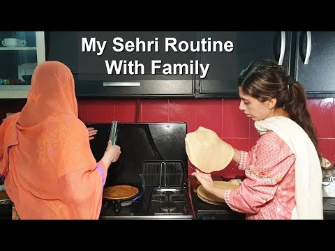 My Sehri Routine With Family Kitchen With Amna Recipes | Life With Amna
