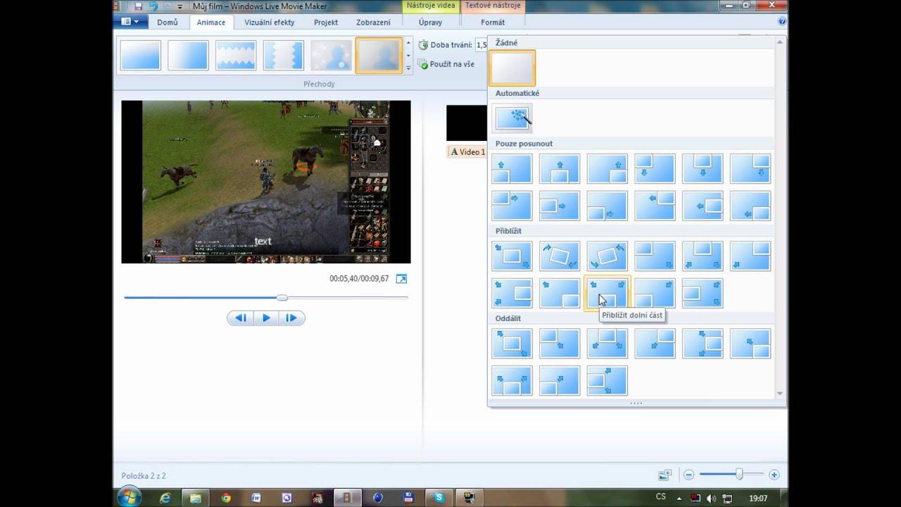 navody 2 windows live movie maker