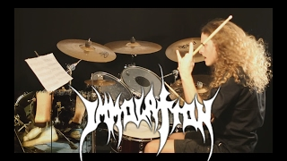 Immolation drum cover - All That Awaits Us