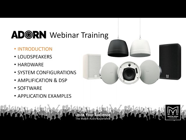 Martin Audio ADORN Commercial Loudspeakers Webinar