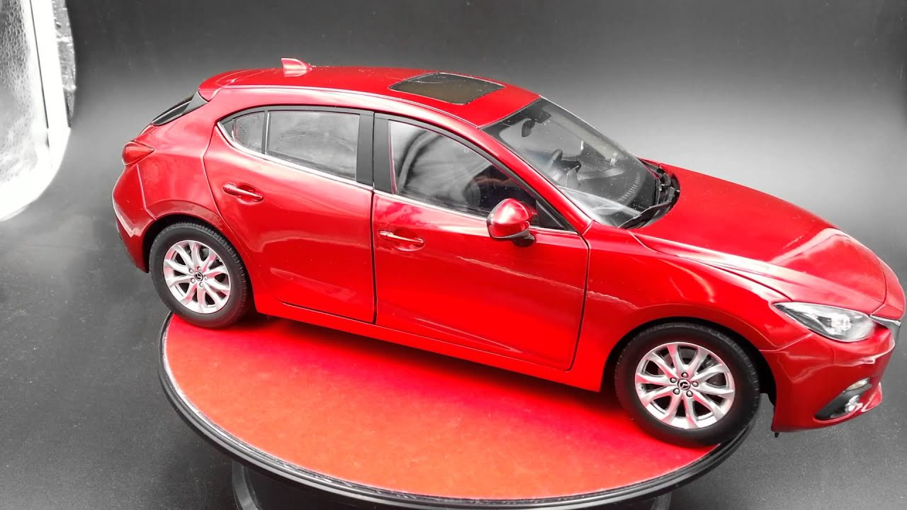 Mazda 3 Axela Scale 1 18 Cast Car Hatchback By Original Dealer Edition Red