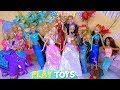 Frozen Elsa Dresses with Fancy Costumes Barbie Dolls and Ken for Carnival!