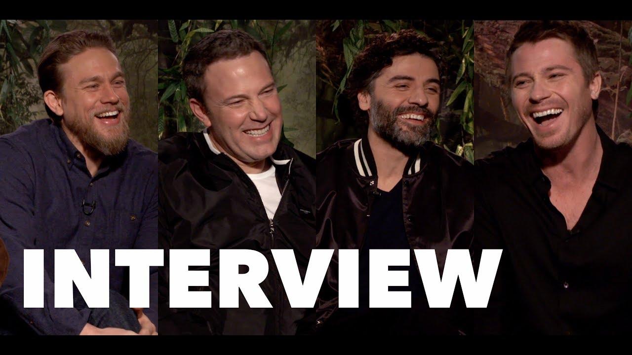 Triple Frontier Fun Cast Interviews Ben Affleck Oscar Isaac Charlie Hunnam Garrett Hedlund