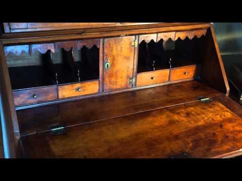 Antique Furniture Desk and Bookcae Circa 1778.
