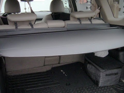 Access Remove Install Privacy Cargo Cover on Toyota RAV4 (Whispering)