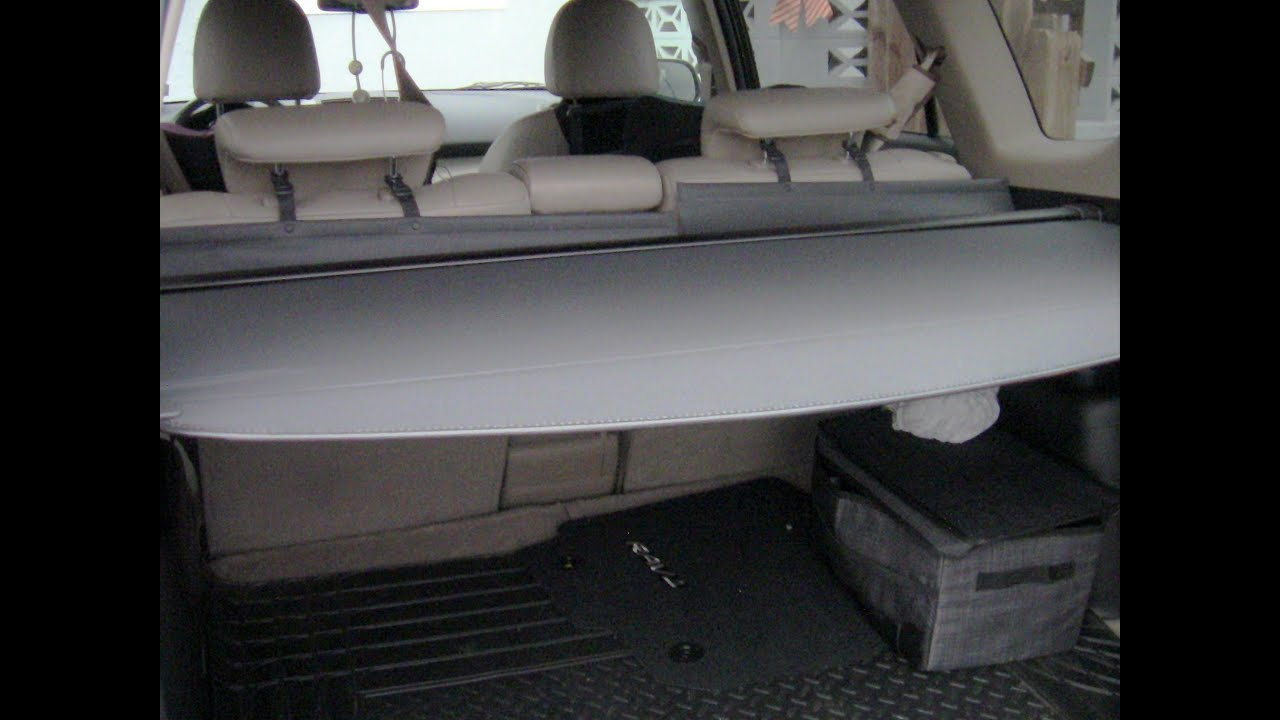 Access Remove Install Privacy Cargo Cover On Toyota Rav4 Whispering
