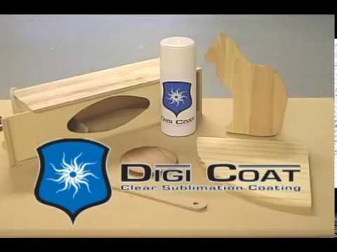 Digi Coat on Wood Coating for sublimation transfer printing