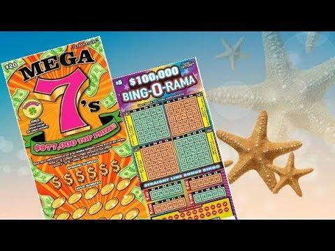 I'M FEELING LUCKY! $20 Mega 7's & $5 Bing-O-Rama Texas Lottery Scratch Off Tickets