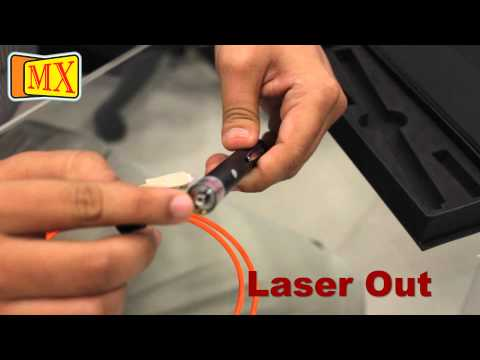 How to use Fiber Optic Cable Visual Fault locator to locate breakage in the cable