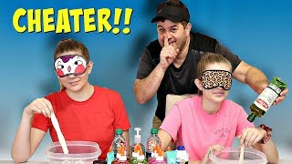 PARENTS CHEATED Blindfolded Slime Challenge   Taylor and Vanessa