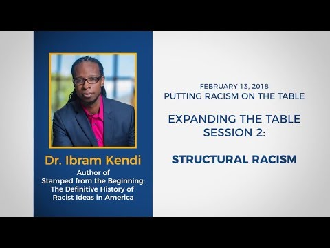 Expanding the Table for Racial Equity Session 2: Structural Racism, featuring Dr. Ibram Kendi