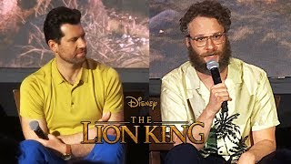 Billy Eichner and Seth Rogen discuss their roles as Timon and Pumbaa in