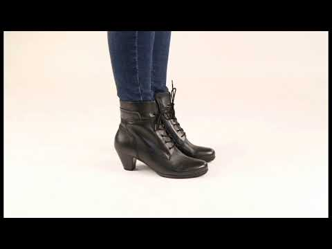 Gabor National Black Ankle Boots - YouTube