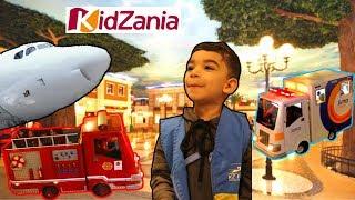 kidzania | cidade das crianças | Mini cidade | carrinhos bombeiro ambulância | brincadeiras escuro