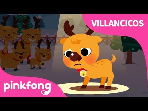 El Reno de Nariz Roja Rodolfo | Villancicos de Navidad | Pinkfong Canciones Infantiles