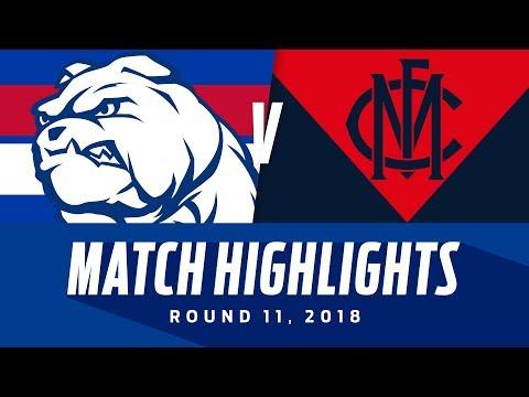 Western Bulldogs v Melbourne Highlights   Round 11, 2018   AFL