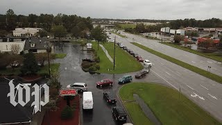 Customers flood restaurant drive-thru following Hurricane Florence