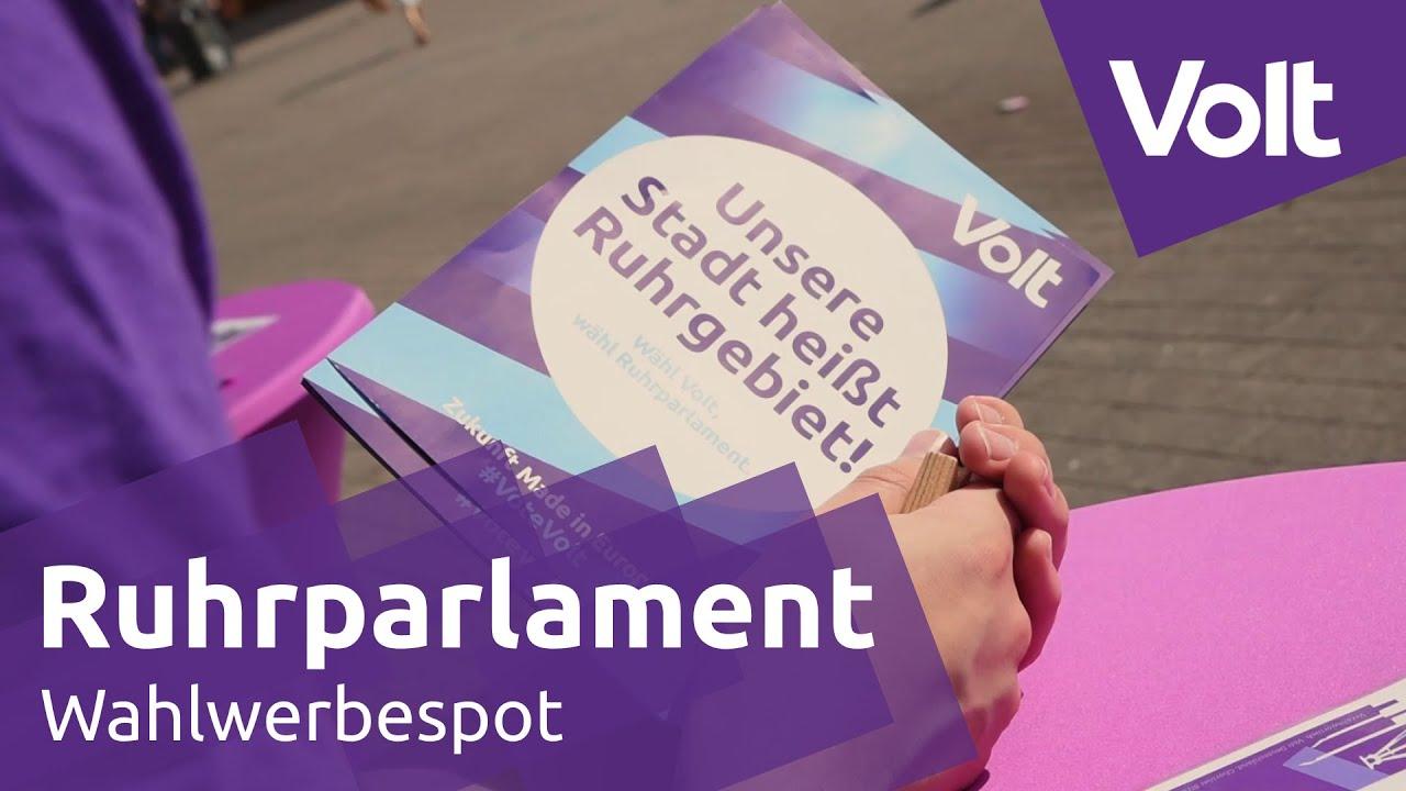 YouTube: Volt Ruhr Wahlspot Kommunalwahl 2020 #VoteVolt
