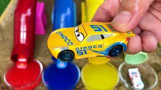 20 Learn Colors for Kids with Lightning McQueen Toys and Water Pipe Colors