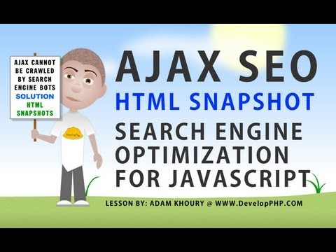 AJAX SEO Crawlable JavaScript Driven Content For Search Engine Indexing Google