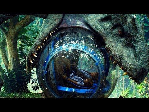 indominus rex attacks the gyrosphere - jurassic world