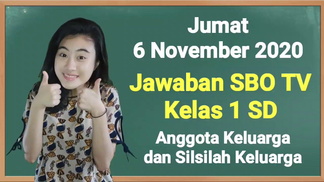 Kunci Jawaban SBO TV Kelas 1 SD Jumat 6…