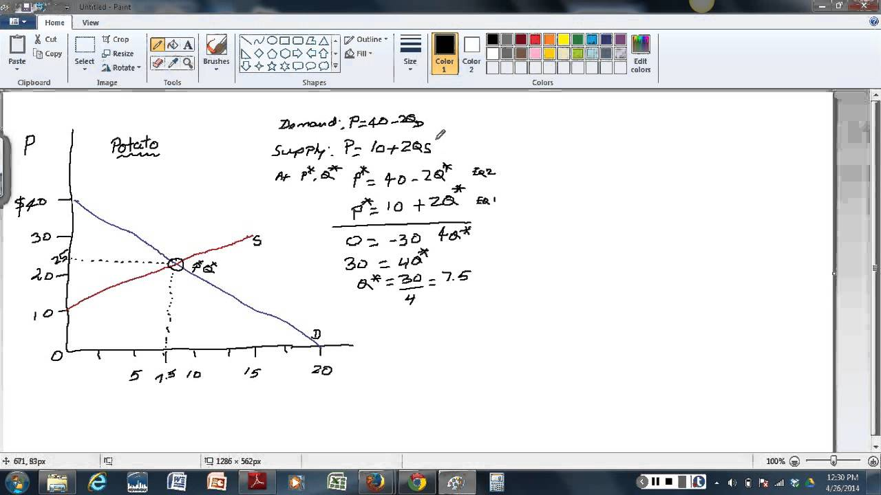 Solving Demand And Supply Equations For Equilibrium Price And Maxresdefault Watch?vFqNyfAofszI