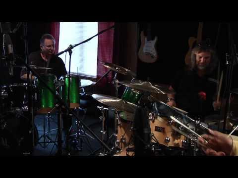 Universal Percussion and Musician's Friend in the studio