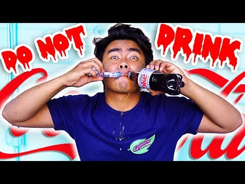 Do Not Drink DIET COKE AND MENTOS! (WARNING)