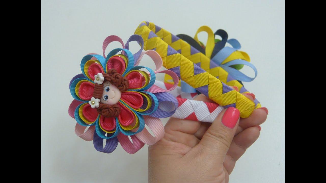 diy diadema zig zag y flores kanzashi diy zig zag headband