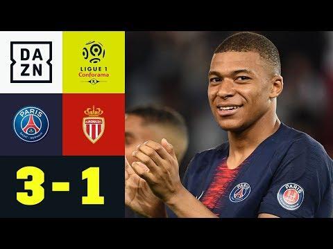 Erst Meister, dann Kylian Mbappe mit Dreierpack: Paris Saint-Germain - Monaco 3:1   Ligue 1   DAZN