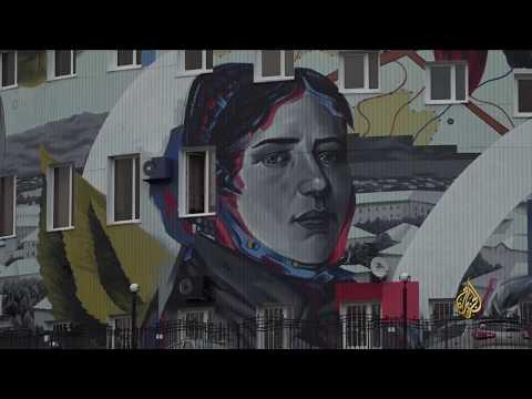 هذا الصباح-جداريات فنية تزين واجهات المباني الروسية  - نشر قبل 3 ساعة