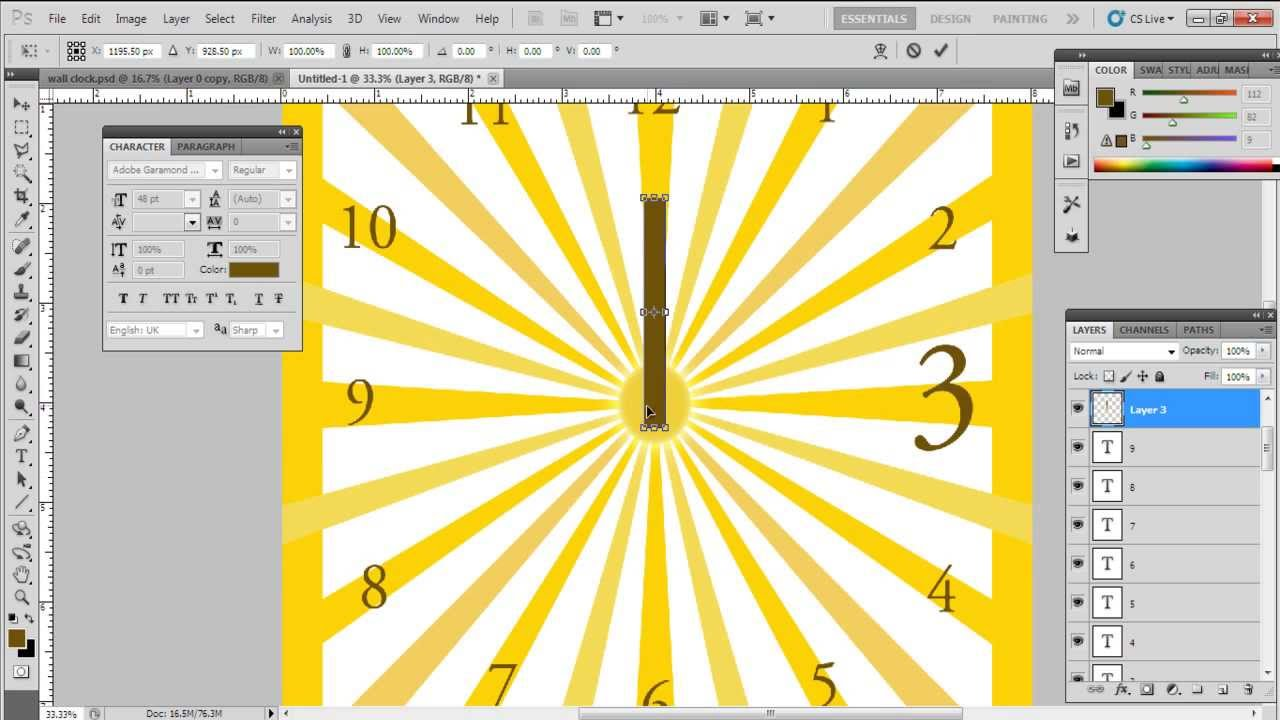 How to Design a Wall Clock - YouTube