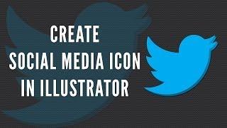 Illustrator Tutorial: How to create social media icon using basic shapes.