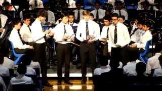The 12 days of Christmas/Africa Medley performed by QE Barbershop